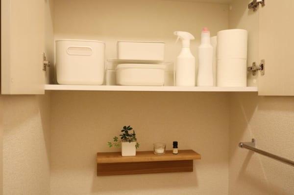 トイレの棚の収納