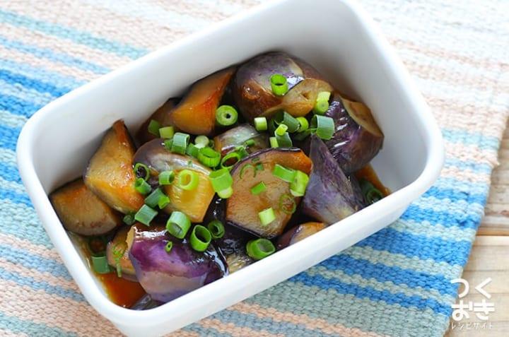 作り置きの人気レシピ!茄子のバターポン酢炒め