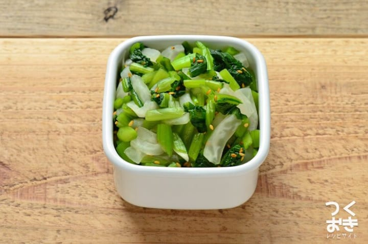 簡単な作り置き料理に!野沢菜と大根の和え物
