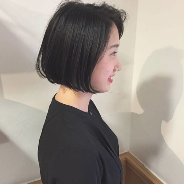 夏に人気の黒髪×ボブヘア5
