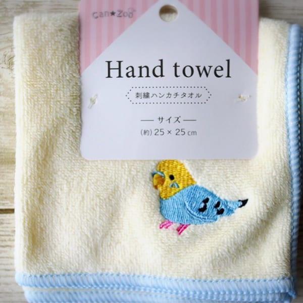 刺繍ハンカチタオル【キャンドゥ】