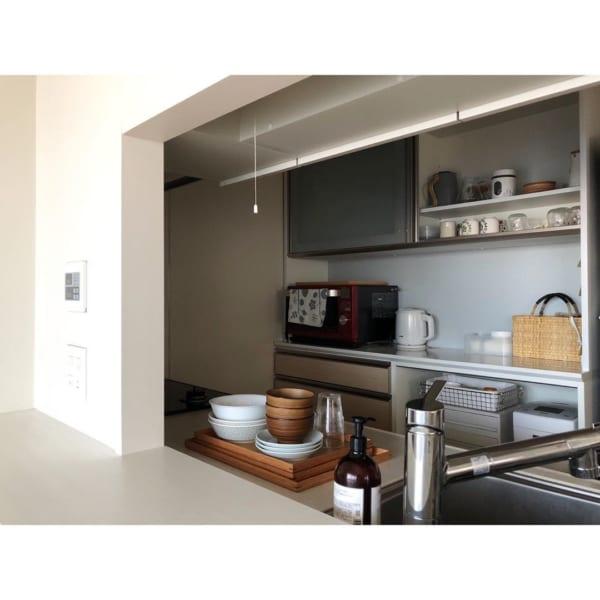 すっきり整ったキッチン収納で使いやすく