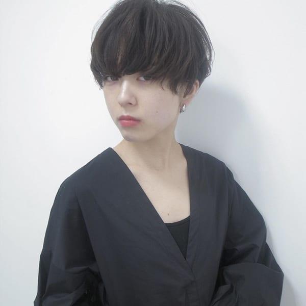 夏に人気の黒髪×ショートヘア2