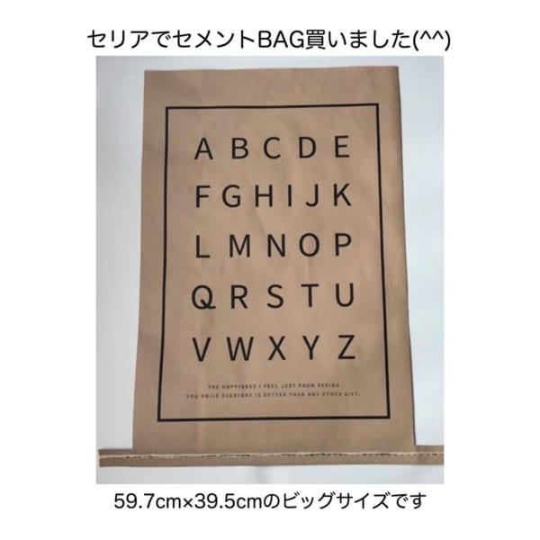 武骨さがかわいいセメントバッグ