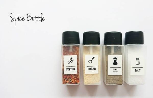 コンパクトなスパイスボトル