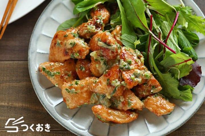 父の日に手作りの和食料理!鶏むね肉のわさびマヨ