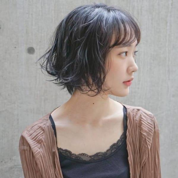 夏に人気の黒髪×ボブヘア2