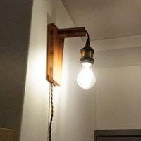 テーブルの上で簡単DIY♪おしゃれな「壁掛け照明」を作ろう!