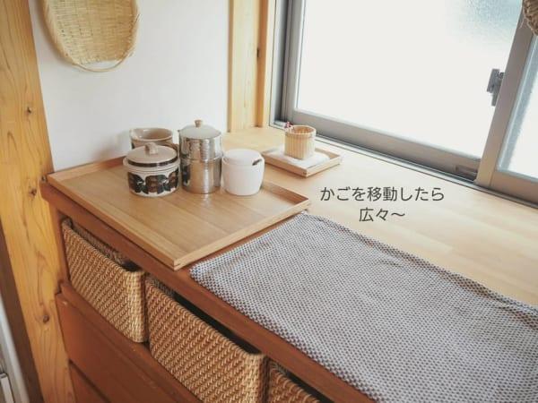 キッチンでティー用品コーナーとして使用