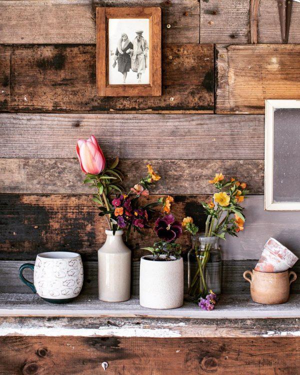 お花の飾り方を3