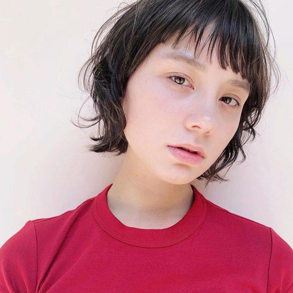 前髪ぱっつん×ショートヘアカタログ14