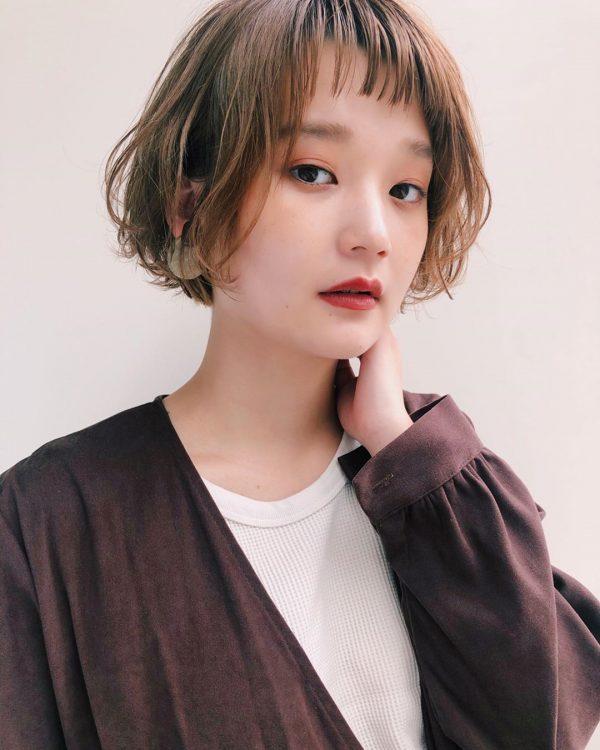 前髪ぱっつん×ショートヘアカタログ15