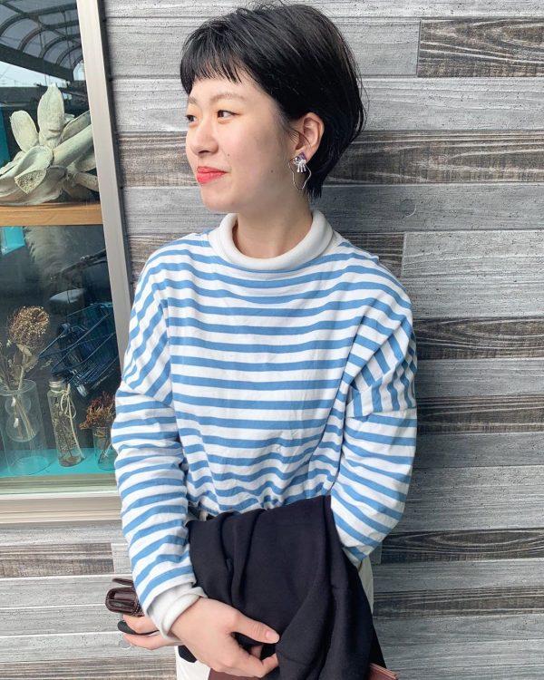前髪ぱっつん×ショートヘアカタログ3