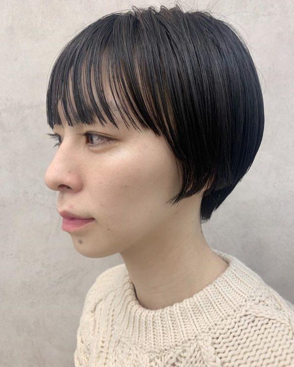前髪ぱっつん×ショートヘアカタログ4