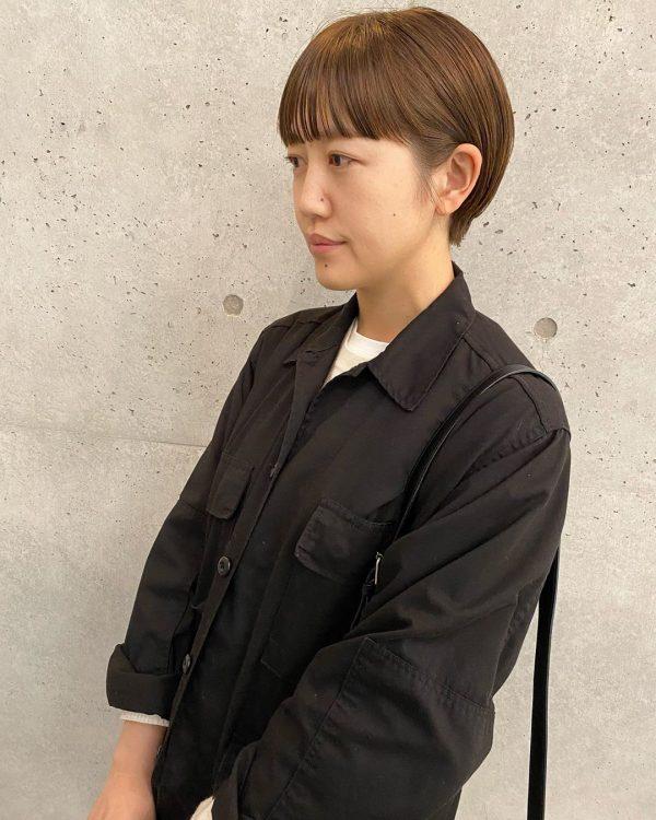 前髪ぱっつん×ショートヘアカタログ6