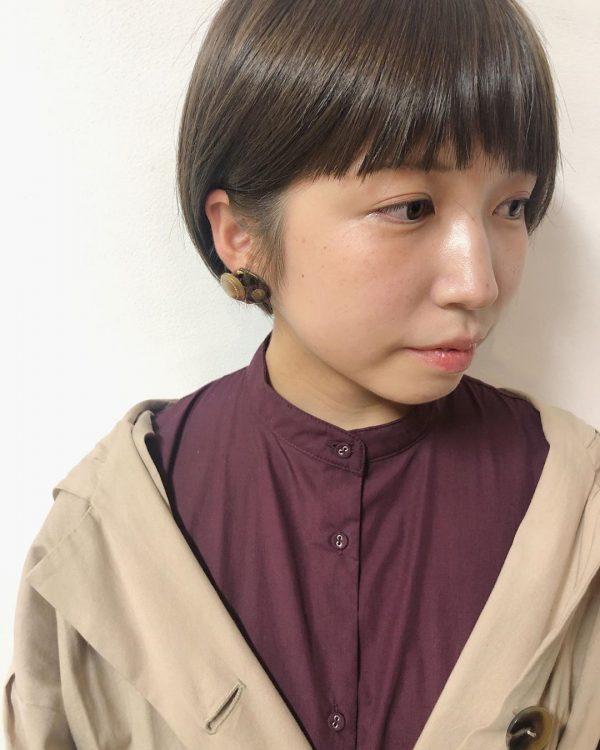 前髪ぱっつん×ショートヘアカタログ7