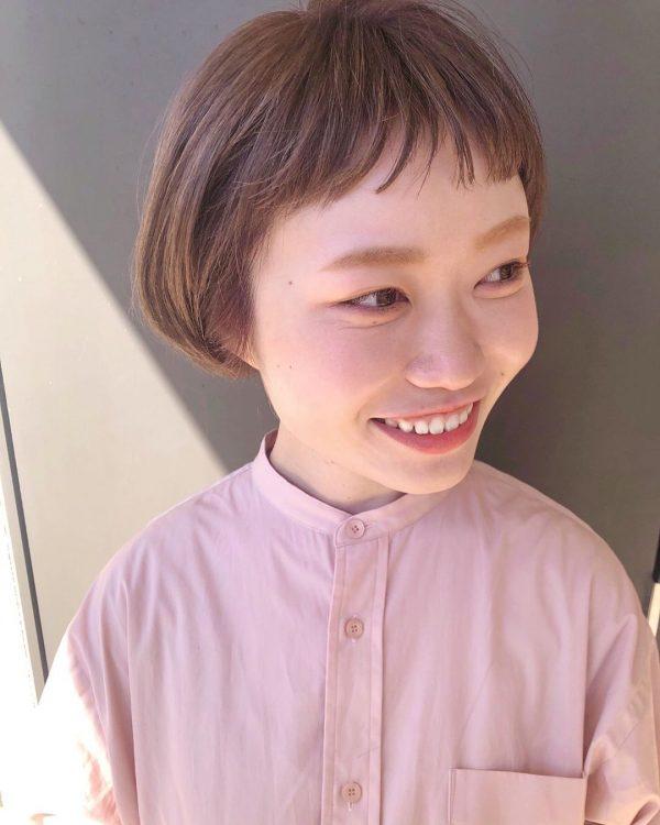 前髪ぱっつん×ショートヘアカタログ8