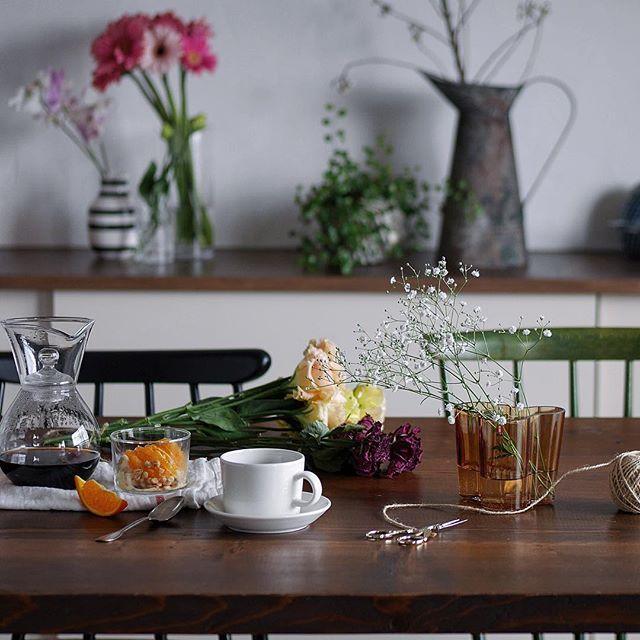 多種多様なお花の飾り方はバランスが大切