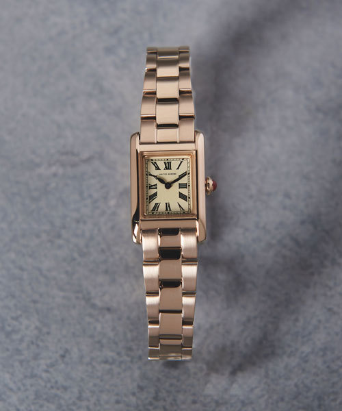 [UNITED ARROWS] UAB スクエア メタル 腕時計