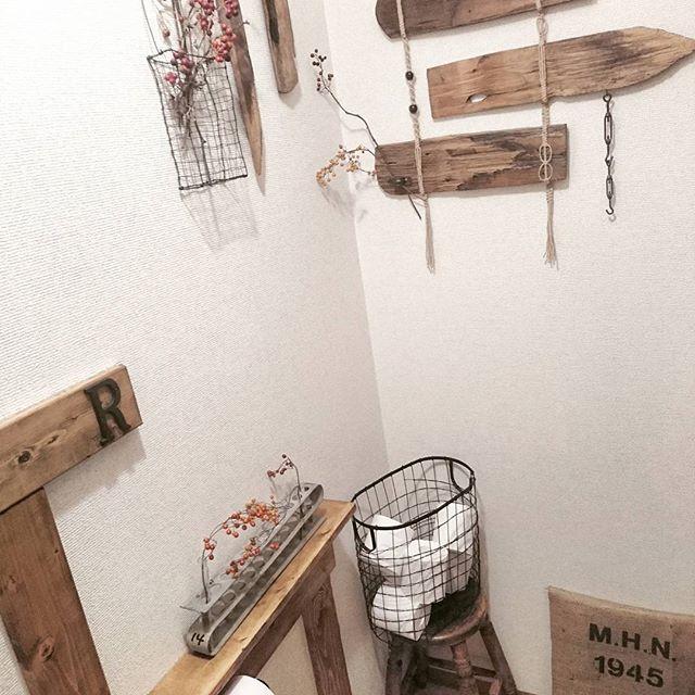 トイレのおしゃれなDIYアイデア《ドライフラワー・スワッグ》4