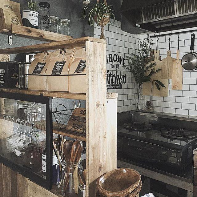 黒インテリアでカフェ風キッチン