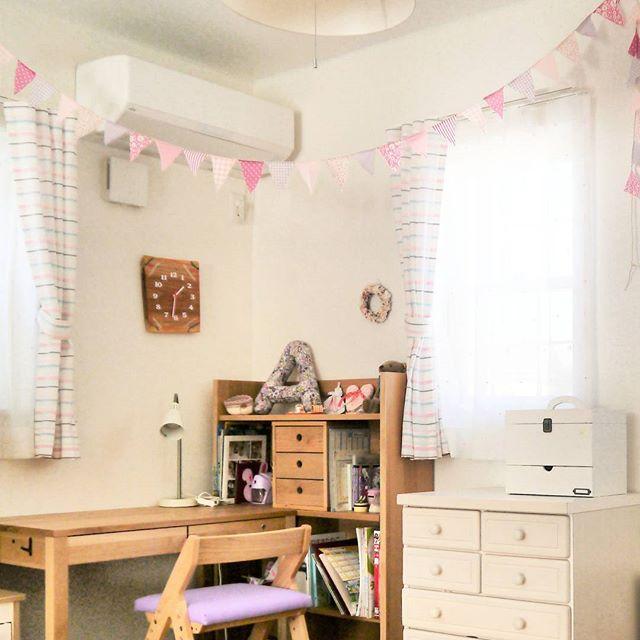 小学生の女の子のおしゃれ子供部屋《ナチュラル》