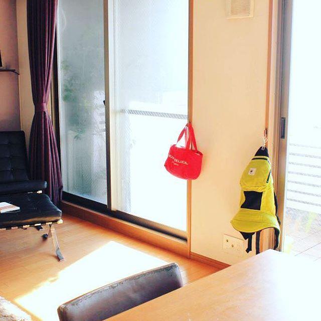 マザーズバッグを部屋のオムツ収納にするアイデア