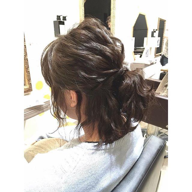 花嫁 ハーフアップ 髪型3