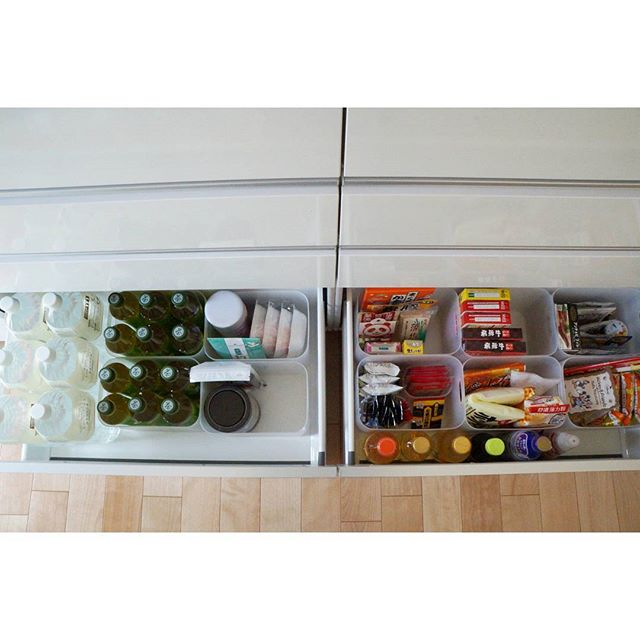 食品ストックは種類ごとに分けて整理