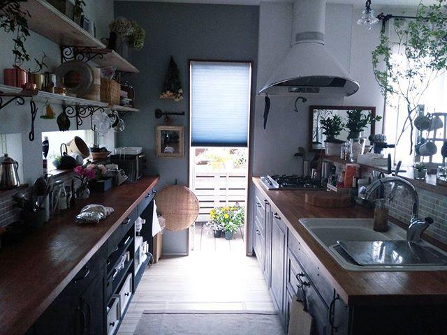 ヨーロッパ風のナチュラル海外風キッチン
