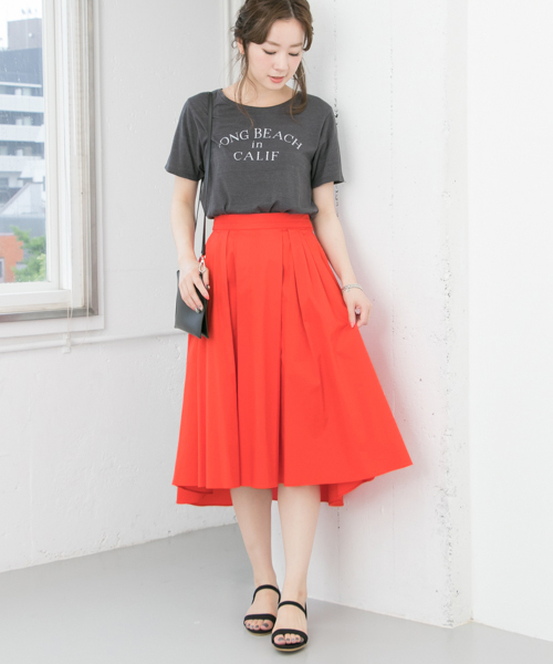 [URBAN RESEARCH] ランダムタックカラースカート