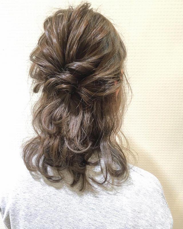花嫁 ハーフアップ 髪型9