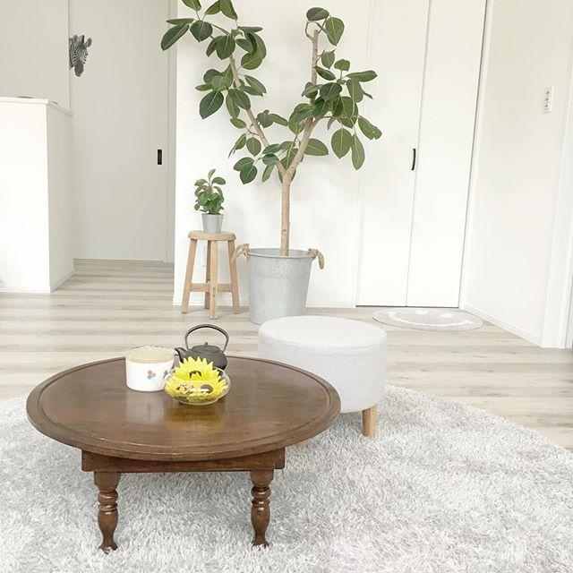 おしゃれローテーブルの一人暮らし部屋