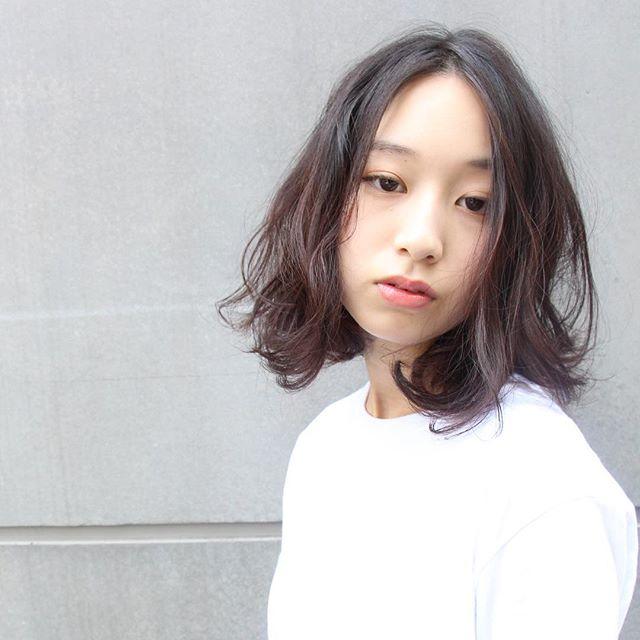黒髪 ミディアム7