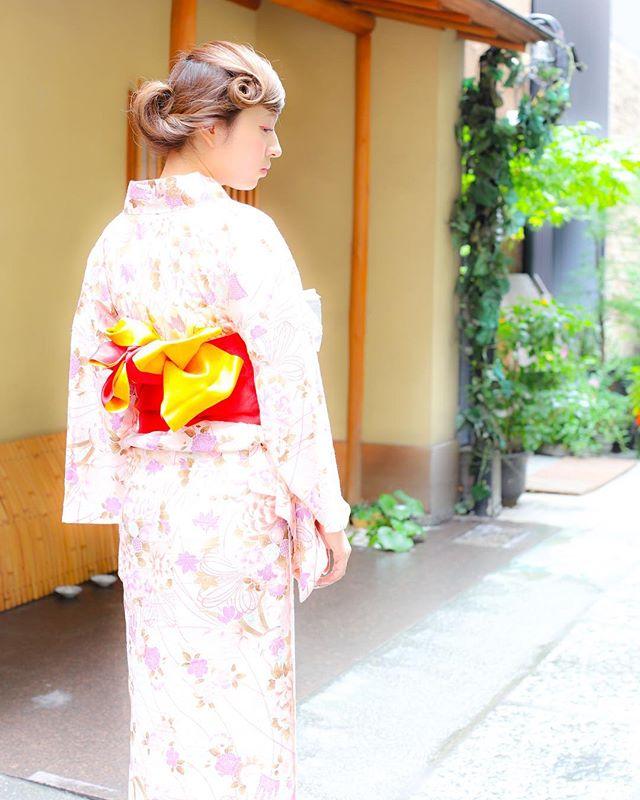 お祭りに似合う髪型【ロング×お団子】2