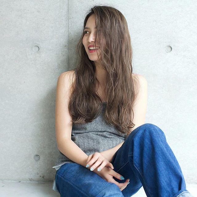 かきあげ前髪×リラクシーロング