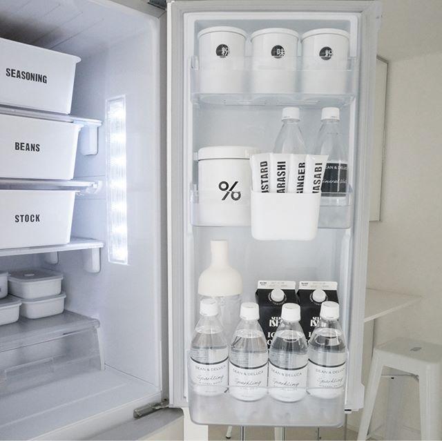冷蔵庫ドアポケットの収納アイデア《セリア》