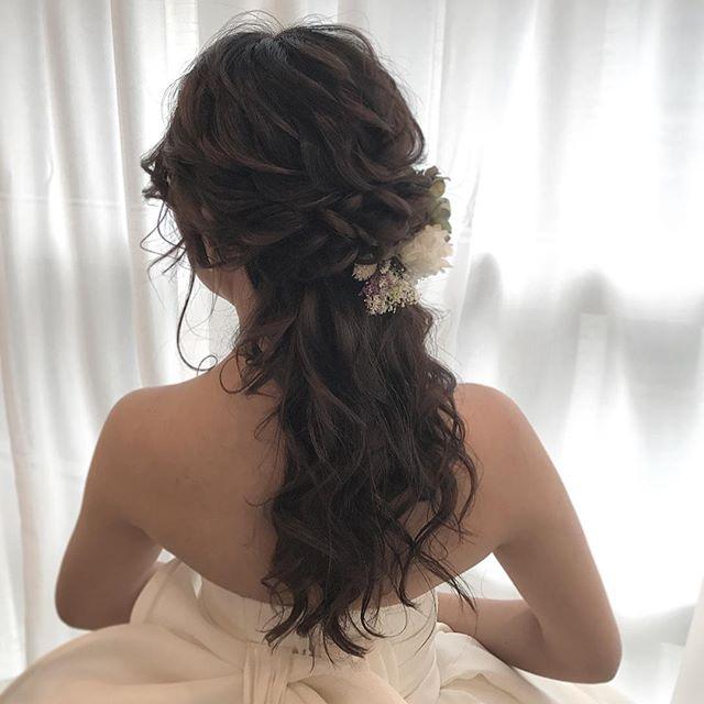 花嫁 ハーフアップ 髪型14