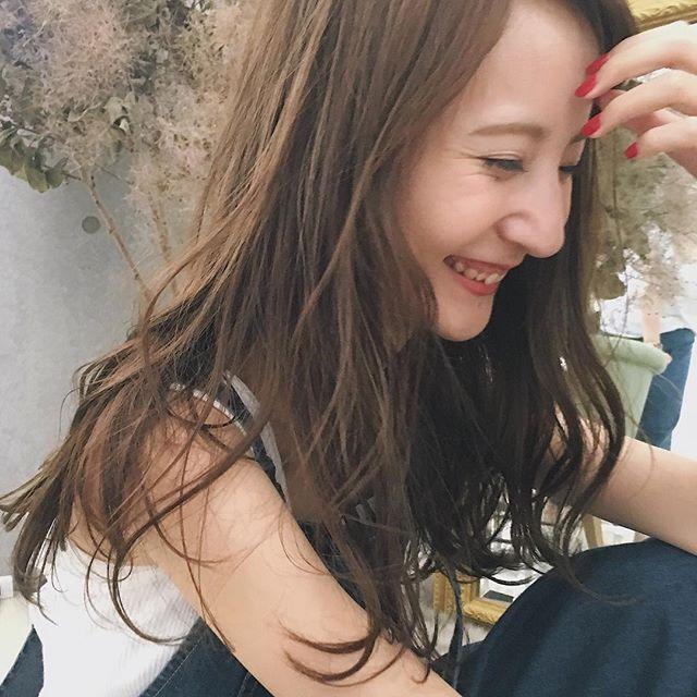 かきあげ前髪×愛されロング