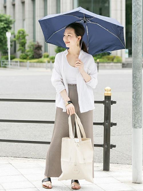 40代夏の雨の日コーデ【パンツ】