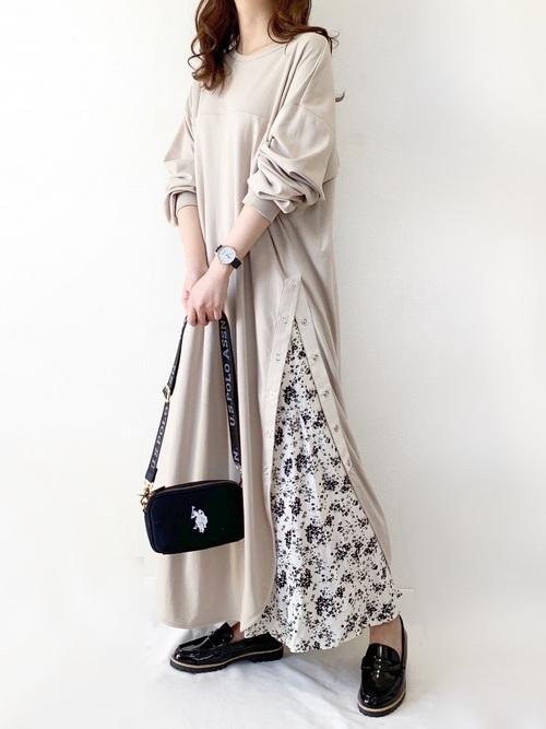 プリントマーメイドロングスカート