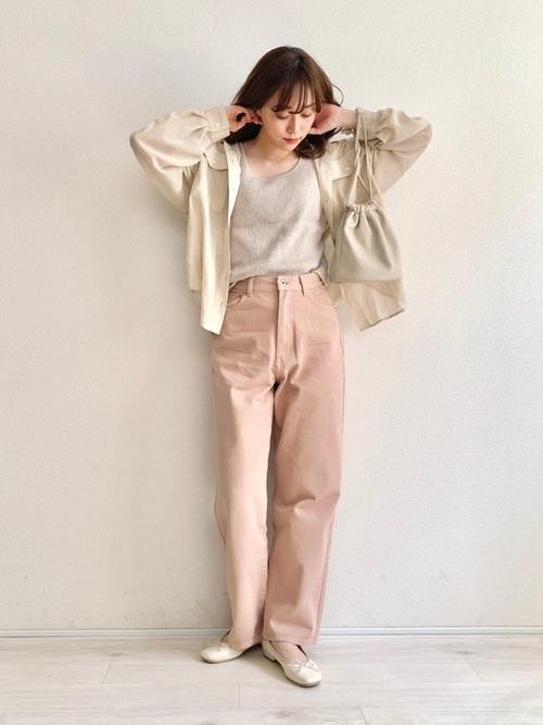 [rectangle] オーバーサイズシアーシャツ