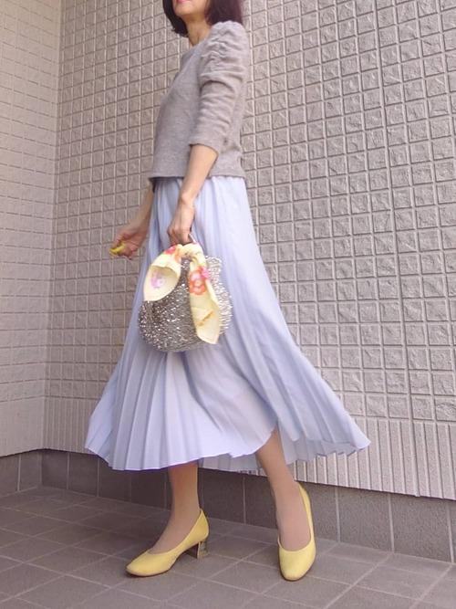ユニクロのスカートで2