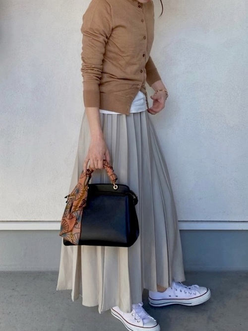[CRAFT STANDARD BOUTIQUE] 【2020SS】PLEATED LONG SKIRT/プリーツロングフレアスカート●*