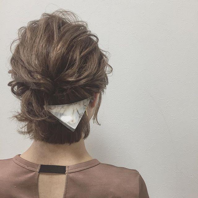 お祭りに似合うショートの髪型×アレンジヘア2