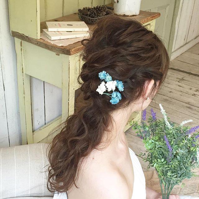 花嫁 ハーフアップ 髪型13