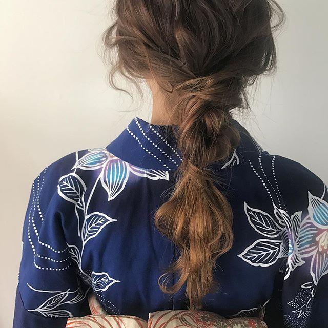 お祭りに似合う髪型【ロング×編み下ろし】3