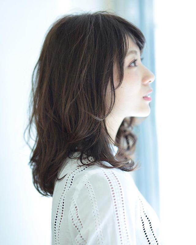 黒髪 ミディアム9