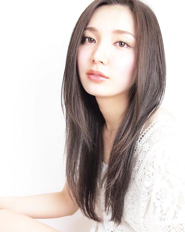 かきあげ前髪×サラサラロング