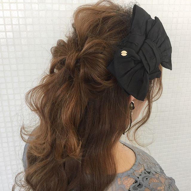 花嫁 ハーフアップ 髪型12